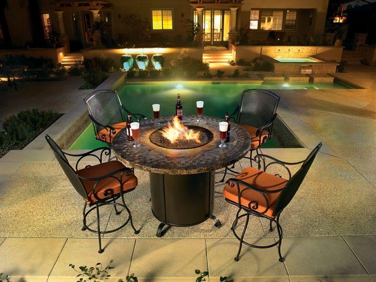 Mit Einem Outdoor Gaskamin Lasst Sich Der Sommer Beliebig Verlangern Feuerstellen Tisch Feuerstelle Selber Bauen Und Feuertisch
