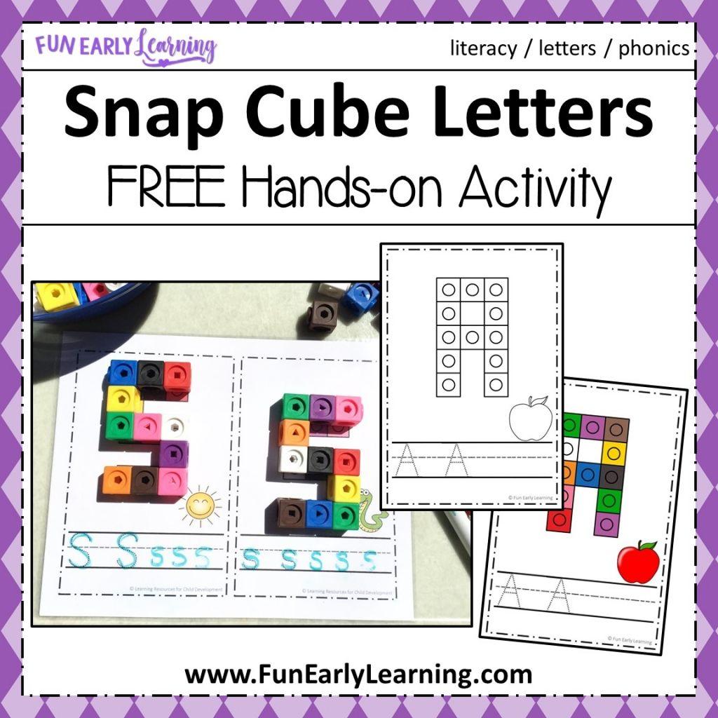 Snap Cube Letters Activity | PPCD | Pinterest