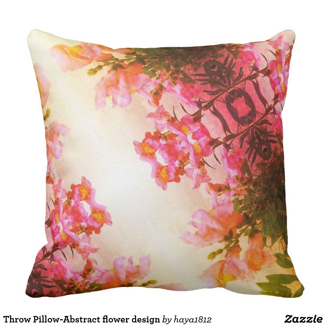 Abstract Floral Designer Pillowcases by