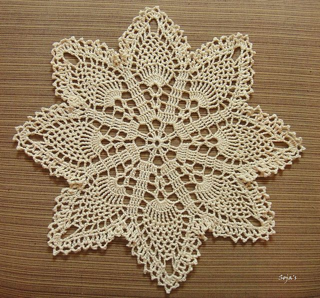 Ravelry: Easy Pineapple Doily pattern by Sylvia Landman | Knitting ...