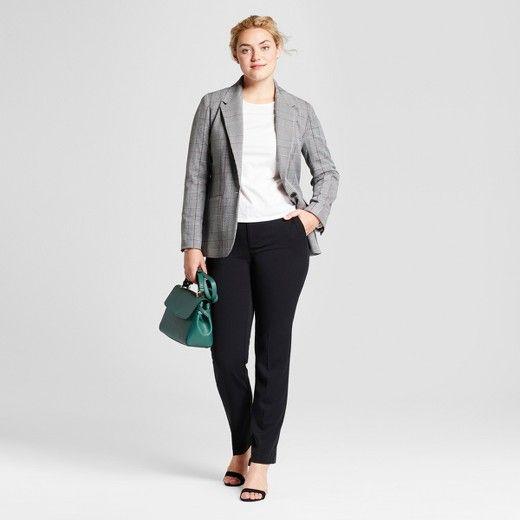 1e35a04670e Women s Straight Leg Curvy Bi-Stretch Twill Pants - A New Day™   Target