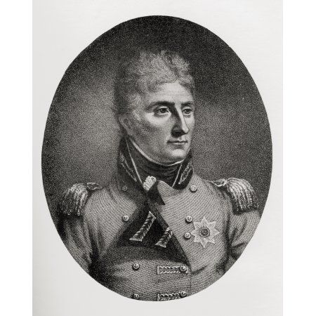 Lieutenant-General Sir John Moore 1761 To 1809 British Soldier And General From The Book How England Saved Europe The Story Of The Great War 1793-1815 Published 1909 Canvas Art - Ken Welsh Design Pic