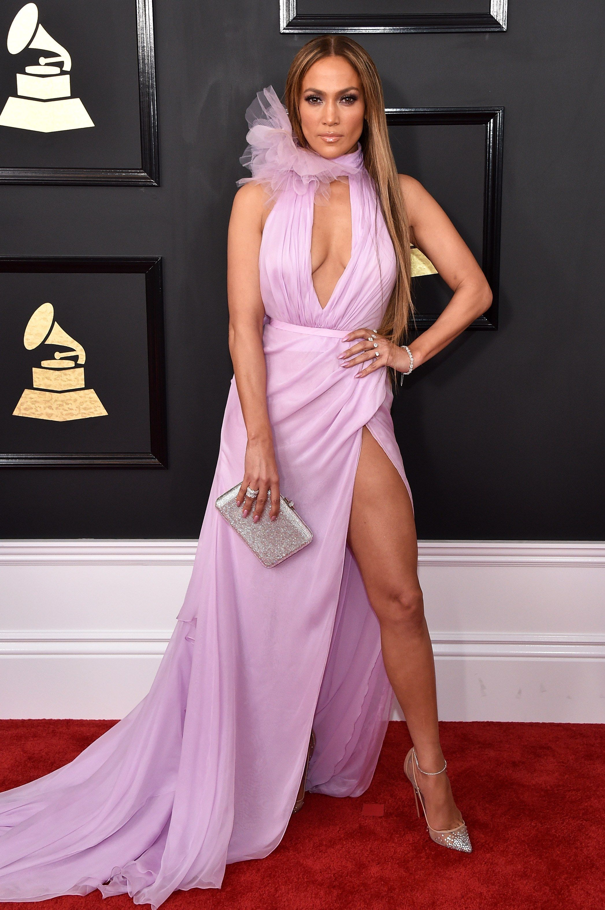 2017 Grammy Awards-Jennifer Lopez in a Ralph   Russo Couture- ove the dress  not the hair 3466344633