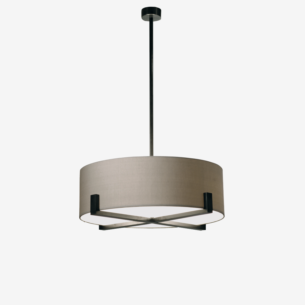 Porta Romana Mcl12 Cross Braced Ceiling Light Bronze