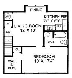 Guest apartment above garage floor plan. Hmmm...I wonder how hard ...