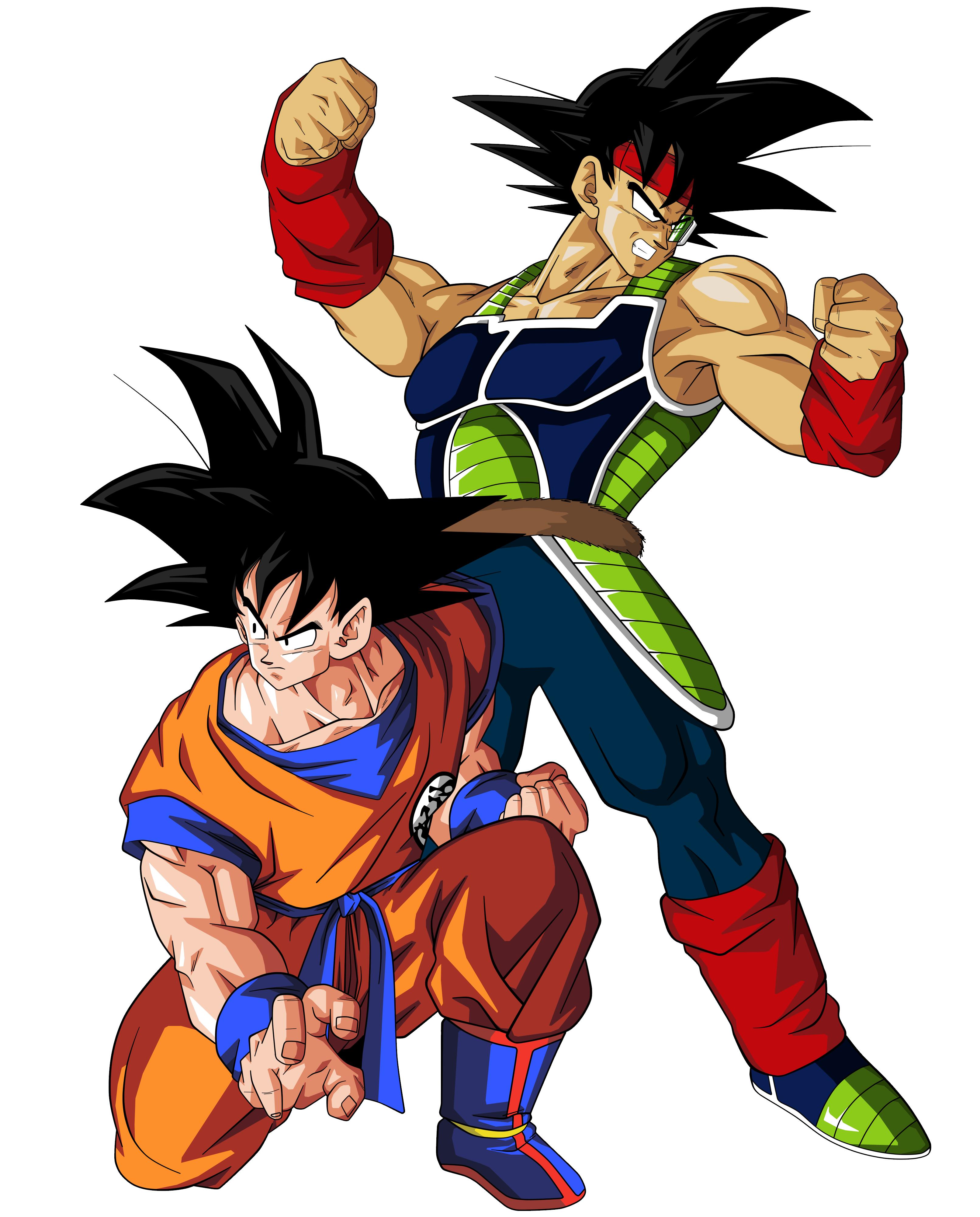 4973498goku+and+bardock.png (3223×4000) Goku, Cartoni