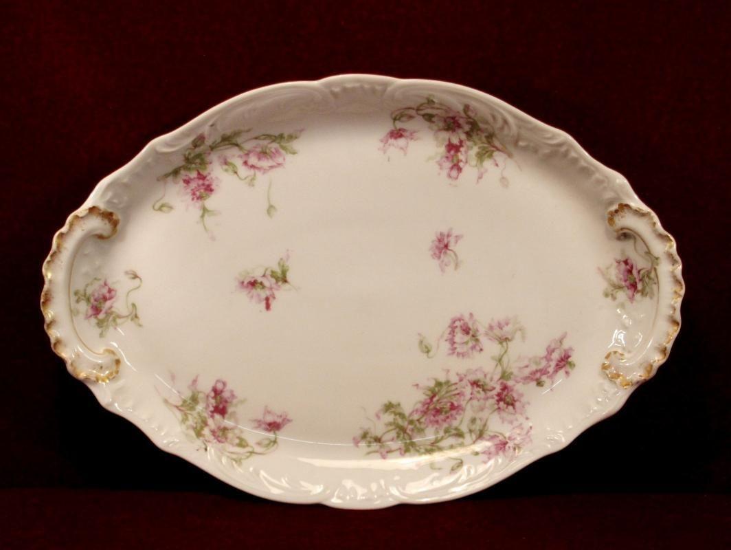Theodore Haviland China Platter Oval Shape Floral Pattern | Haviland ...