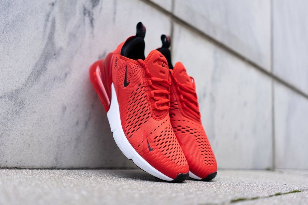 Mens Womens Winter Nike Air Max 270 Sneakers Habanero redblack white AH8050 601 ah8050 601