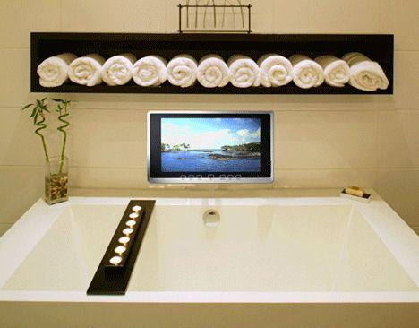 luxurite-wireless-waterproof-TV-installedjpg For the Home - tv im badezimmer