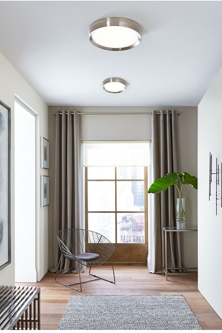 Sophisticated yet simple the Bespin flush mount ceiling light from