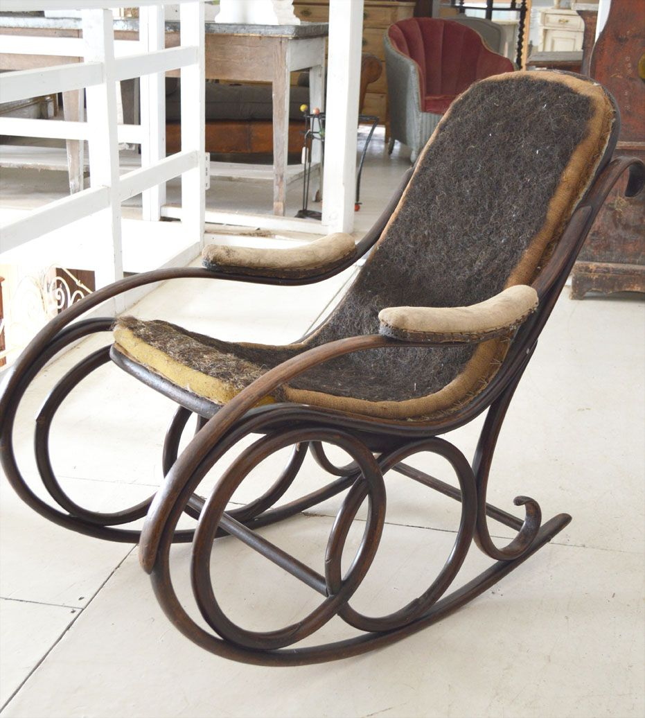 Wonderful 19th Century Thonet Rocking Chair From French Loft On The Hoarde