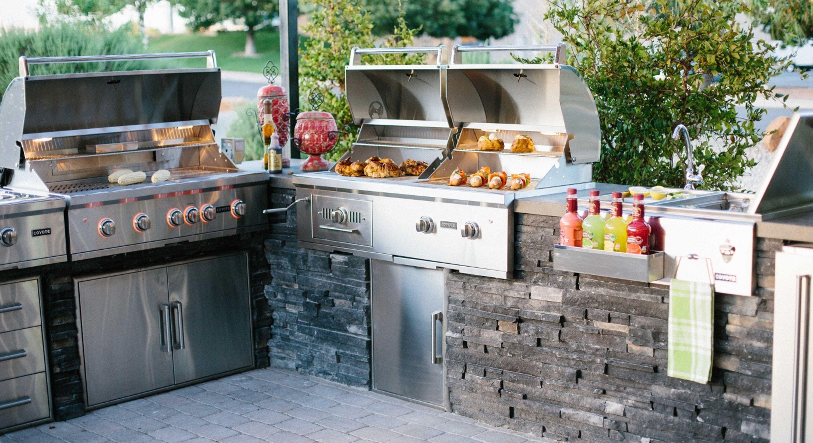 Outdoor Küche Mit Gasgrill Und 4 Brenner Utah : Gasgrill küche Ästhetische inspiration outdoor küche Überdachung