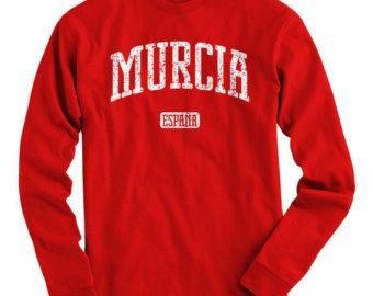 LS Murcia Spain Tee - Long Sleeve T-shirt - Men S M L XL 2x 3x 4x - Gift for Men, Murcia Shirt, Cartagena, España, Spanish Shirt, Futbolista