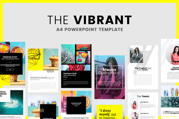 Looking For Creative Presentation Template The Vibrant Is A4 Keynote Multipurpose Niches Most Suitable Fashion Ecommerce