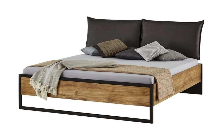 Doppelbettgestell Durham Bett, Holzfarben und Bett mit