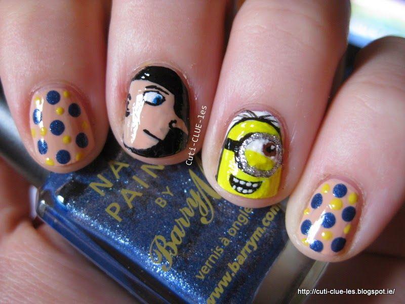 Despicable me 2 Gru & Minion freehand nail art Cuti-CLUE-les | Nails ...
