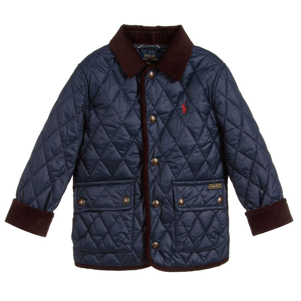 2065714f8022 Boys Navy Blue Quilted Jacket for Boy by Polo Ralph Lauren. Discover the  latest designer Coats   Jackets for kids