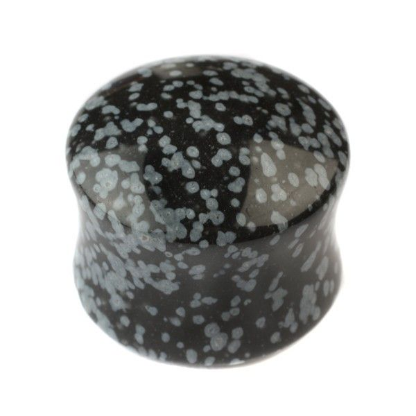 Snowflake Obsidian Stone Plug  buddhajewelryorganics.com