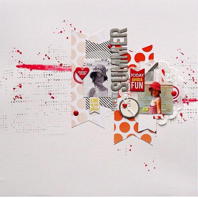 #papercrafting #scrapbook #layout - Summer http://lescrapdopsite.over-blog.com/