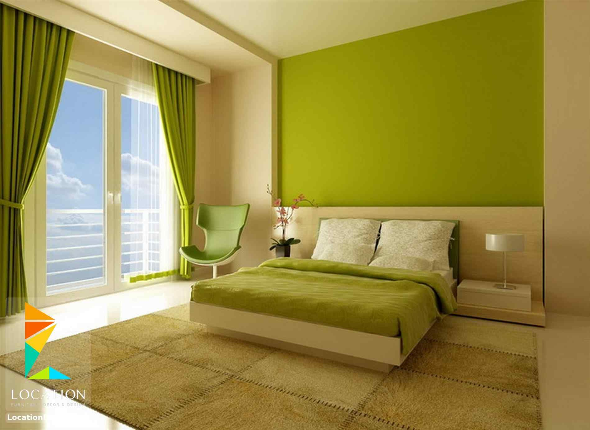 بالصور أحدث الوان دهانات غرف نوم للعرسان 2018 2019 لوكشين ديزين نت Bedroom Wall Colors Green Bedroom Decor Modern Bedroom Decor