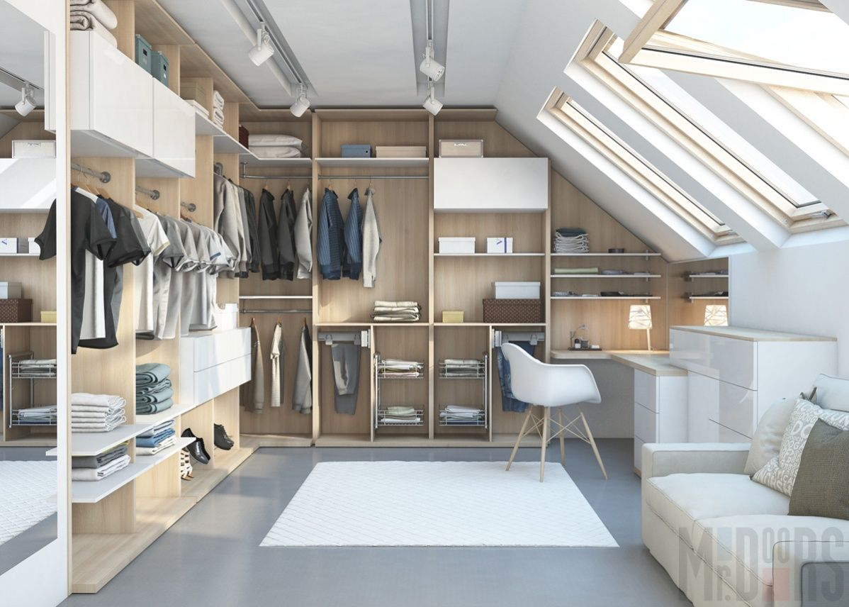 Loft bedroom closets  Гардеробная   Идеи для дома  Pinterest  Household Doors and