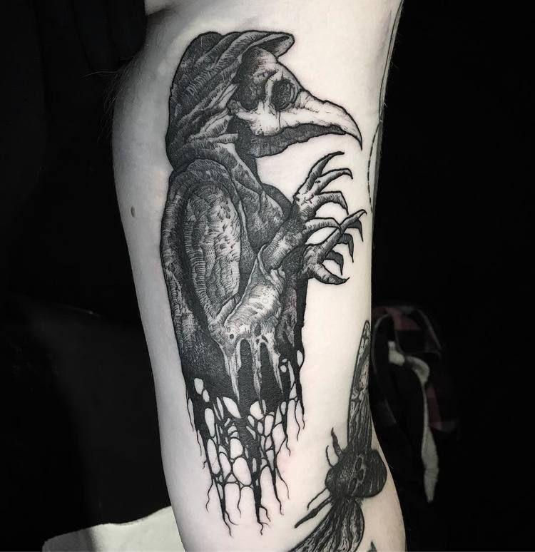 30 Blackwork Dark Tattoos By Merry Morgan Tattooadore Dark Tattoo Scary Tattoos Doctor Tattoo