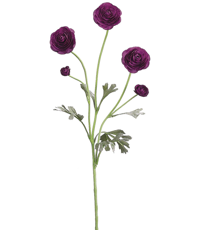 """Names Of Purple Flowers For Wedding: Bloom Room 28"""" Ranunculus Spray Purple"""