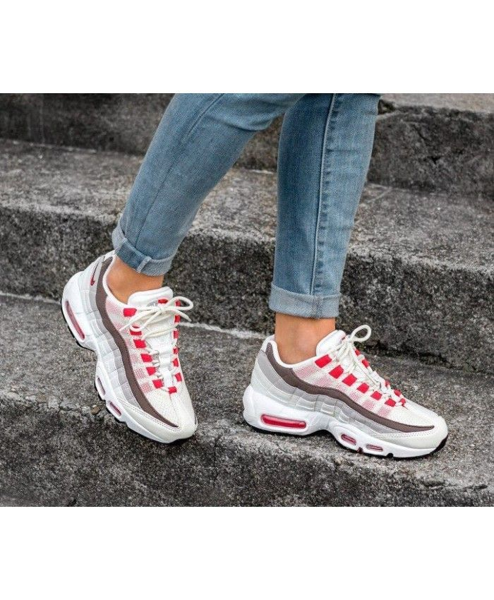 timeless design 23eaf fc42c Pink Red Grey Nike Air Max 95 Trainers