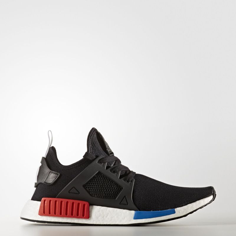 adidas nmd primeknit tri color white blue black red stripes trainer adidas outlet store return policy