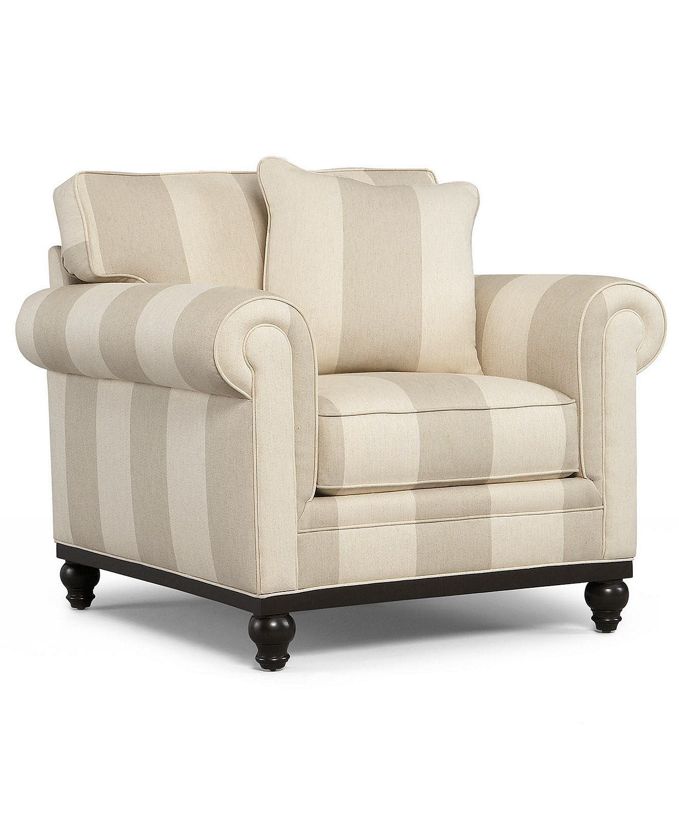 Martha stewart collection fabric arm chair club custom for Martha stewart furniture