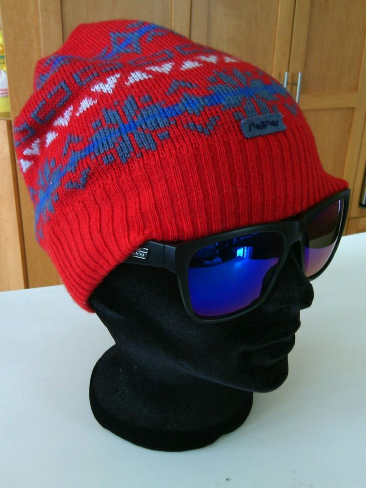 Ski Hat Austrian Wool Beanie Knitted Toque Steffner Unisex Warm Winter  Uncuffed  8ab0c044b26