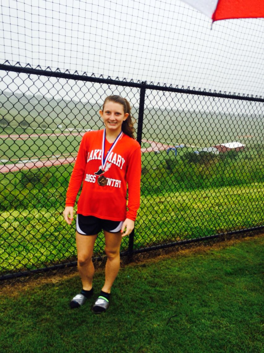 I got 4th place ... It was raining and cold and very windy on a hilly Corse