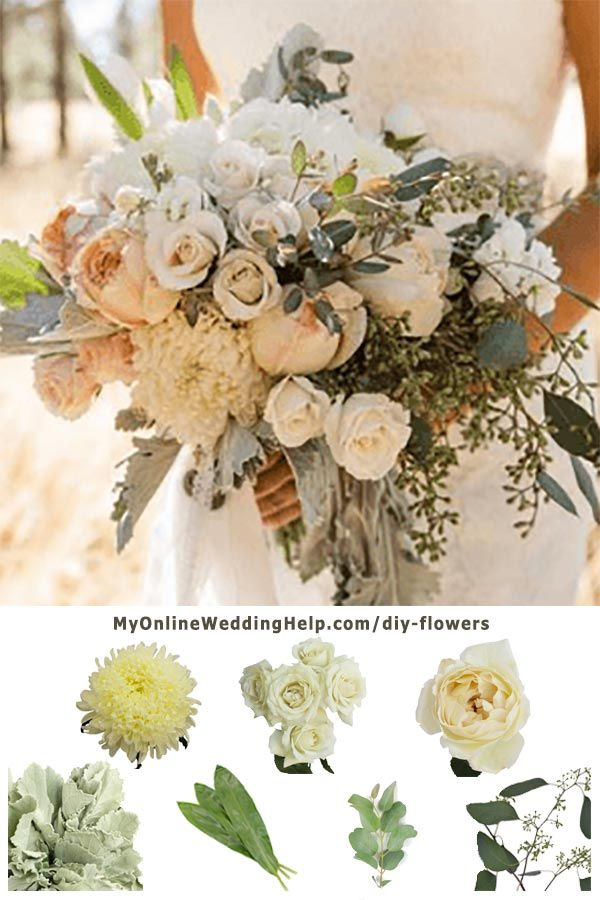 How to DIY Real Wedding Flowers | Rustic bridal bouquets, Greenery ...