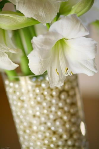 Pearl Vase Filler Idea Flower Arrangements Pinterest Wedding