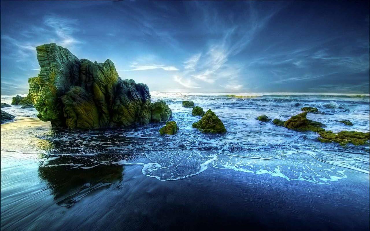 Blue Sky Water Beach Wallpaper Nature Wallpaper Backgrounds