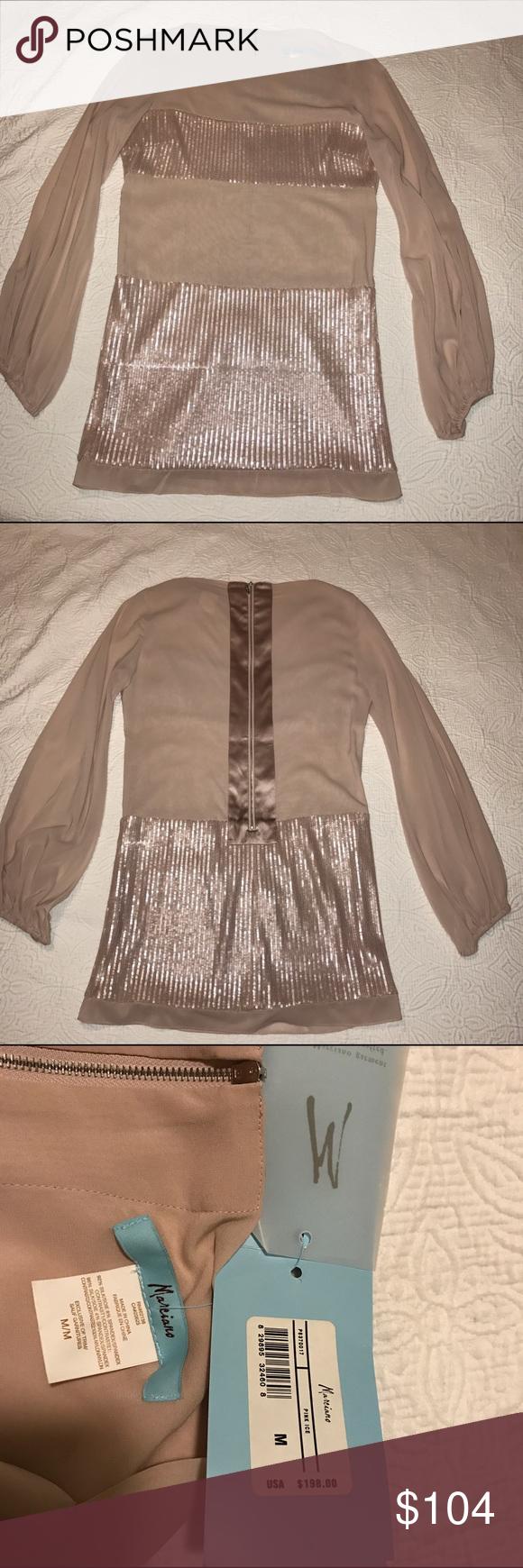 Marciano pink ice mini dress