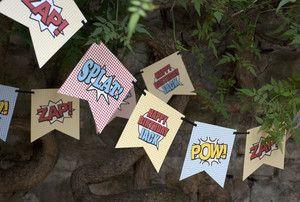 Bunting - SUPERHERO PARTY | eBay