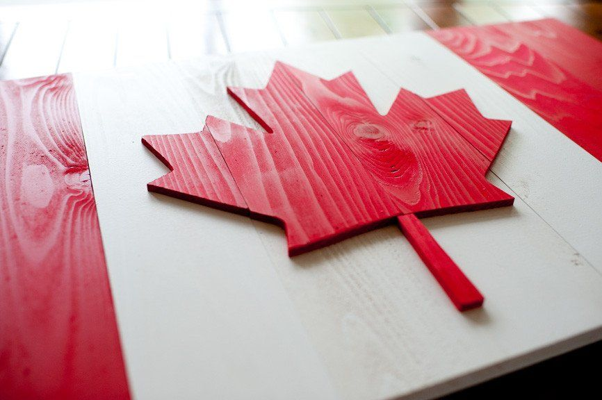 Canada Wood Flag Wood Flag Wooden Flag Wood