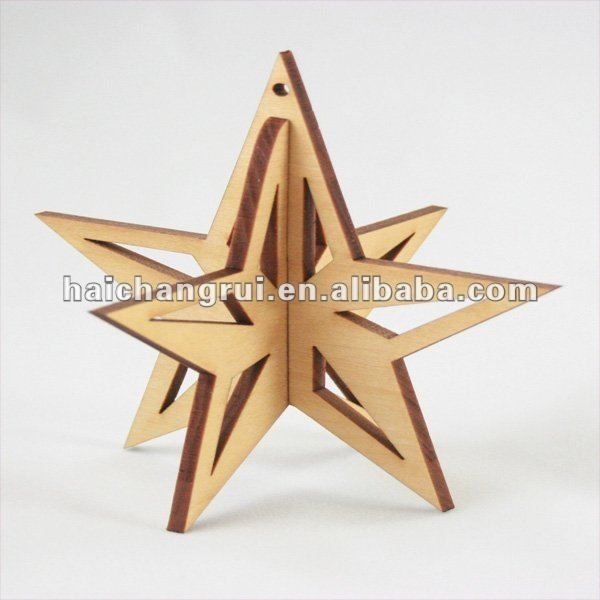 3d Xmas Decoration Wooden Star Hunging Ornament Photo Detailed About 3d Xmas Decoration Wooden Star Hunging Or Wooden Stars Wooden Christmas Trees Wood Crafts