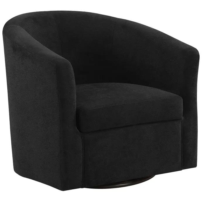 Chaise D Appoint Pivotante Velour Abstrait Noir Meubles Rd In 2020 Accent Chairs Black Accent Chair Swivel Accent Chair