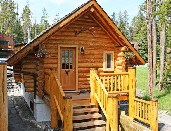 banff log cabins bed breakfast in canada cabins pinterest