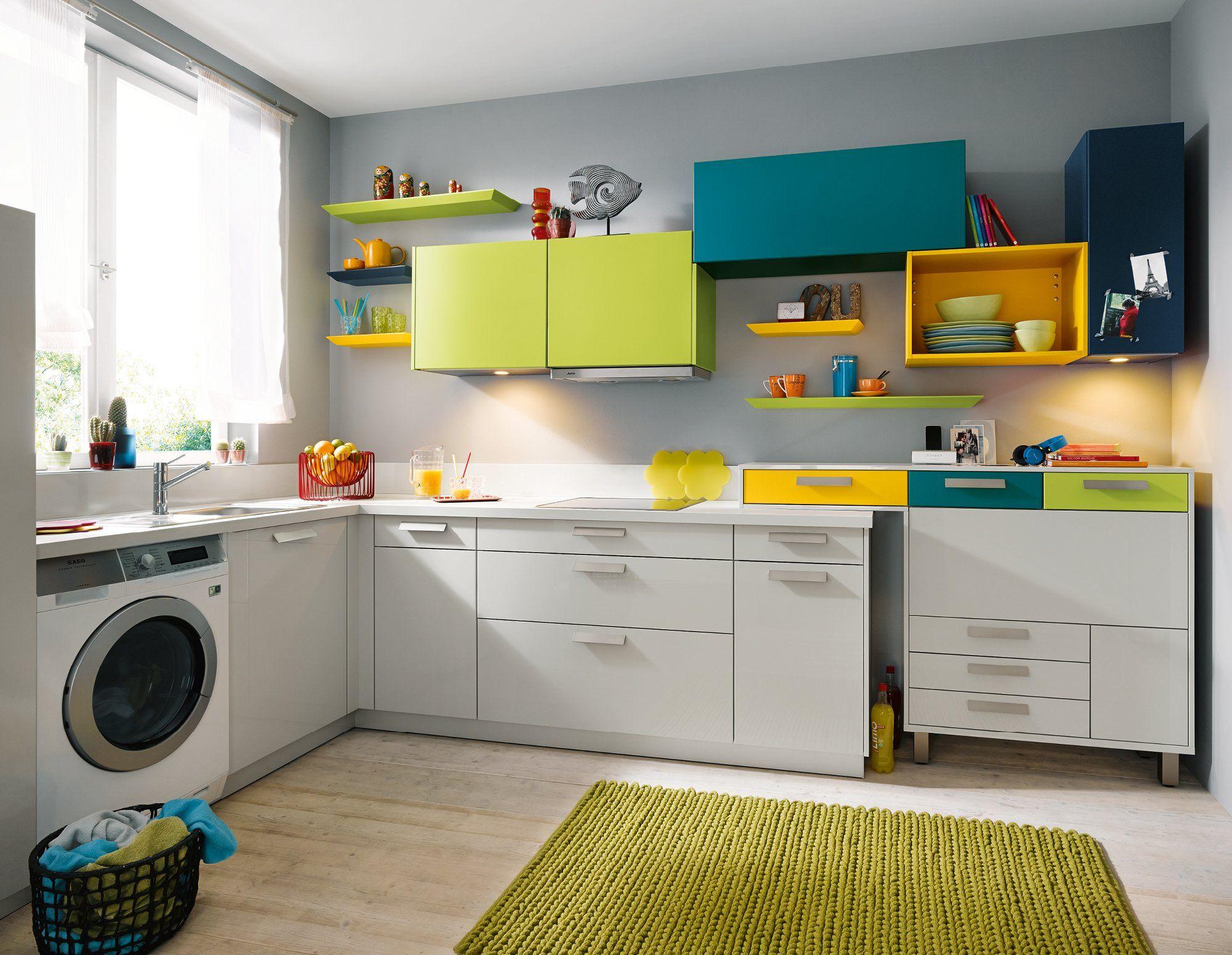 Global 51.170 55.100 familienküche in grau hochglanz arbeit