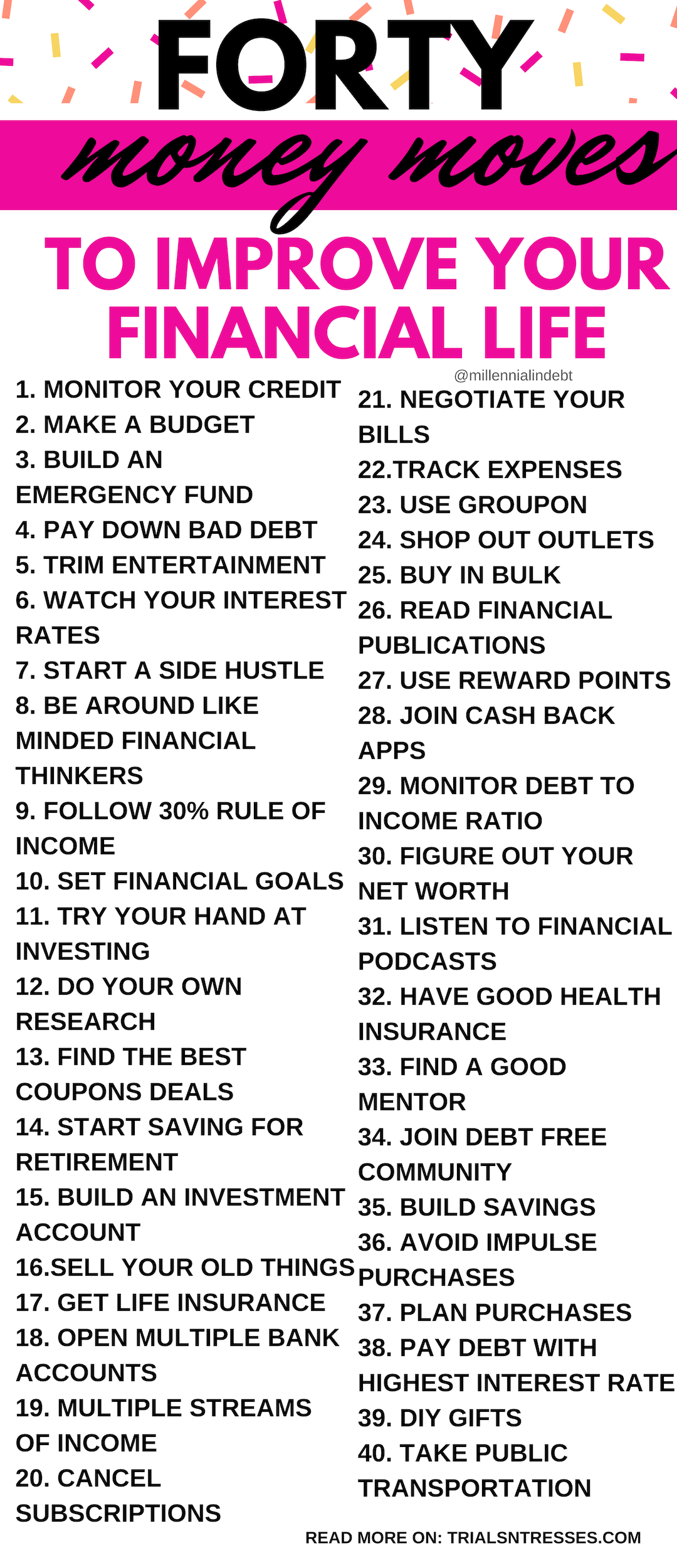 40 Money Moves To Improve Your Financial Life In