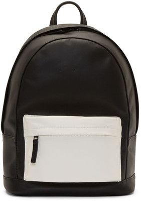 cec874d0faa Pb 0110 SSENSE Exclusive Black and White Matte Leather Small Backpack