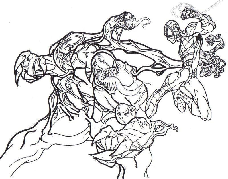 Spiderman Venom Coloring Pages