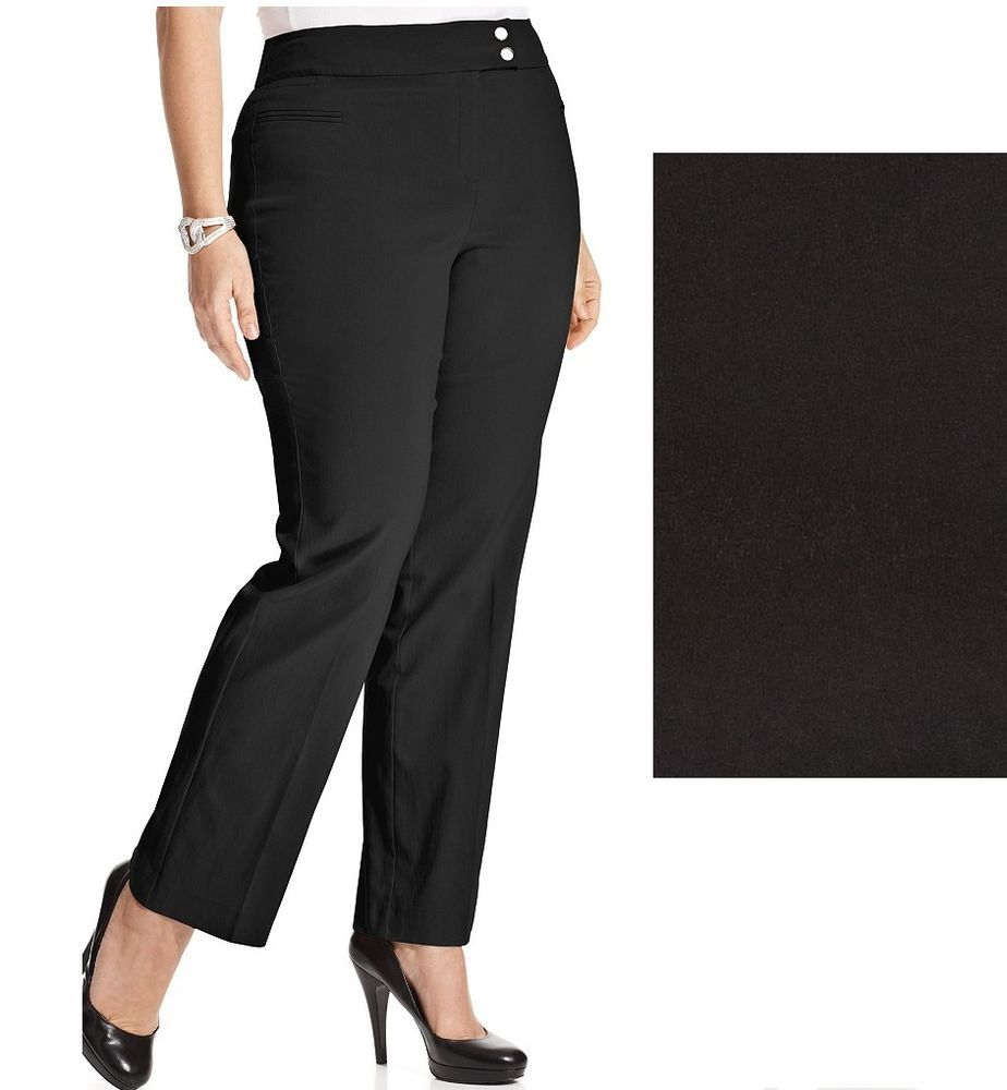 3fb79d879ac32 Style Co Women s Plus Pants Tummy Control Straight Leg petite size 24WP NEW  19.99 http