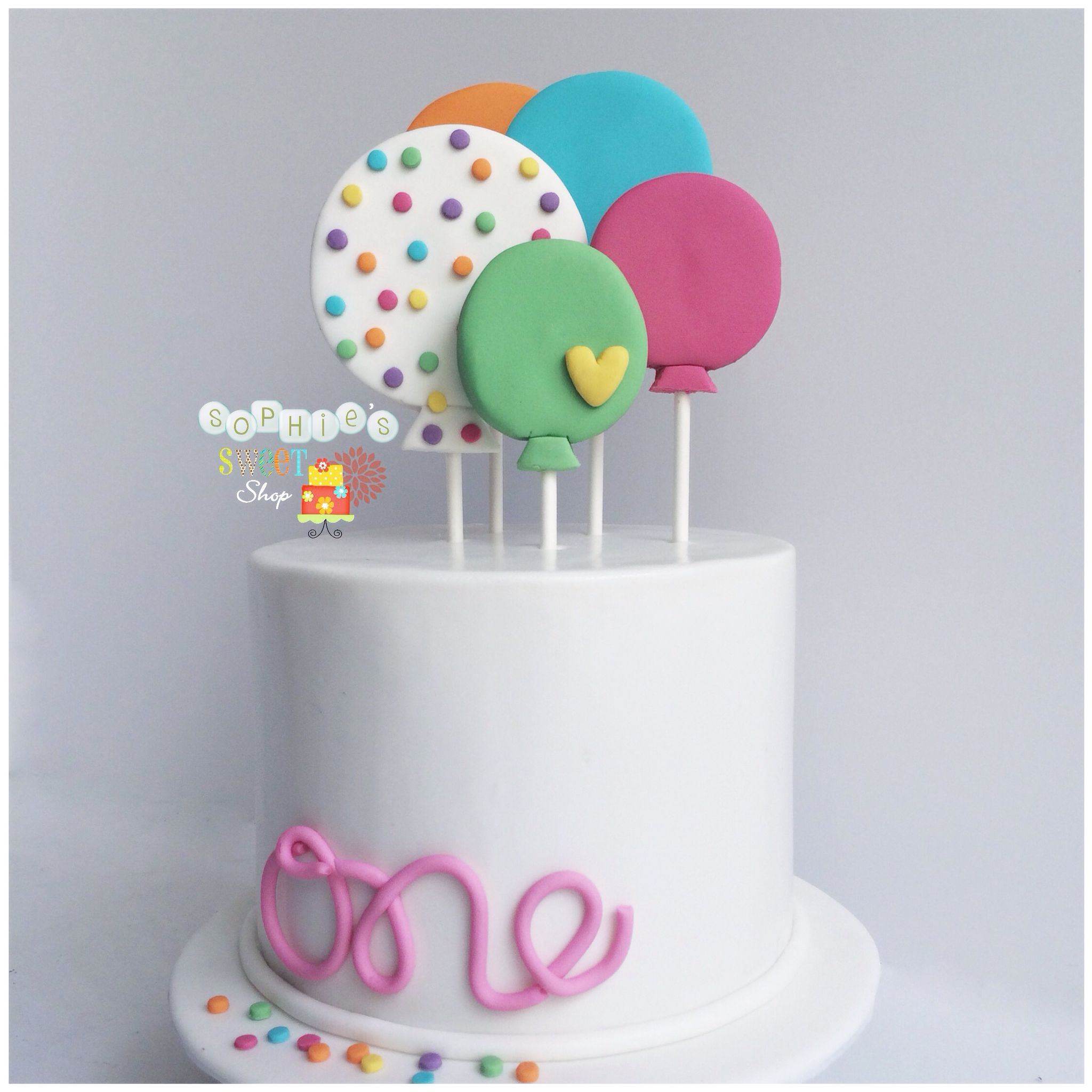 balloon 1st birthday cake instagram sophiesweetshop and