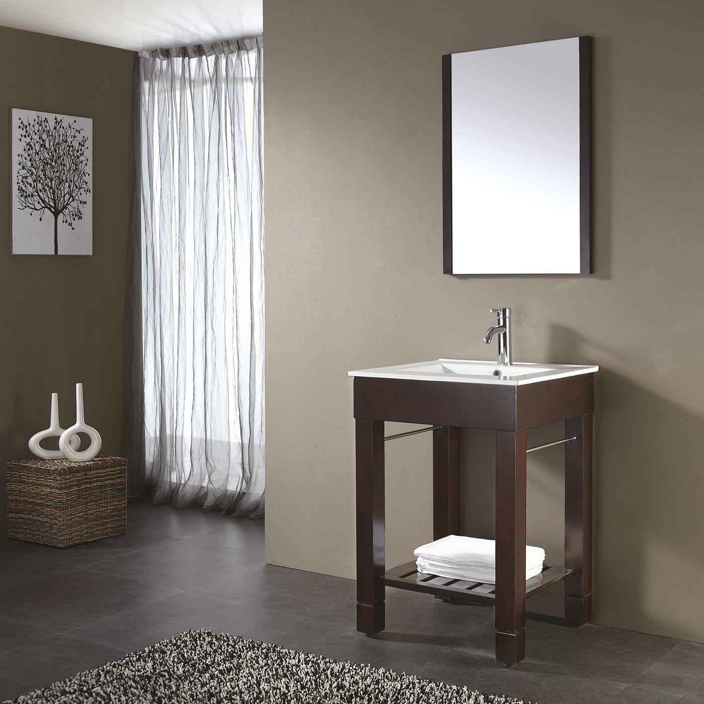 Shop Avanity LOFTV Dark Walnut Bathroom Vanity At Lowes Canada - Lowe's canada bathroom vanities for bathroom decor ideas