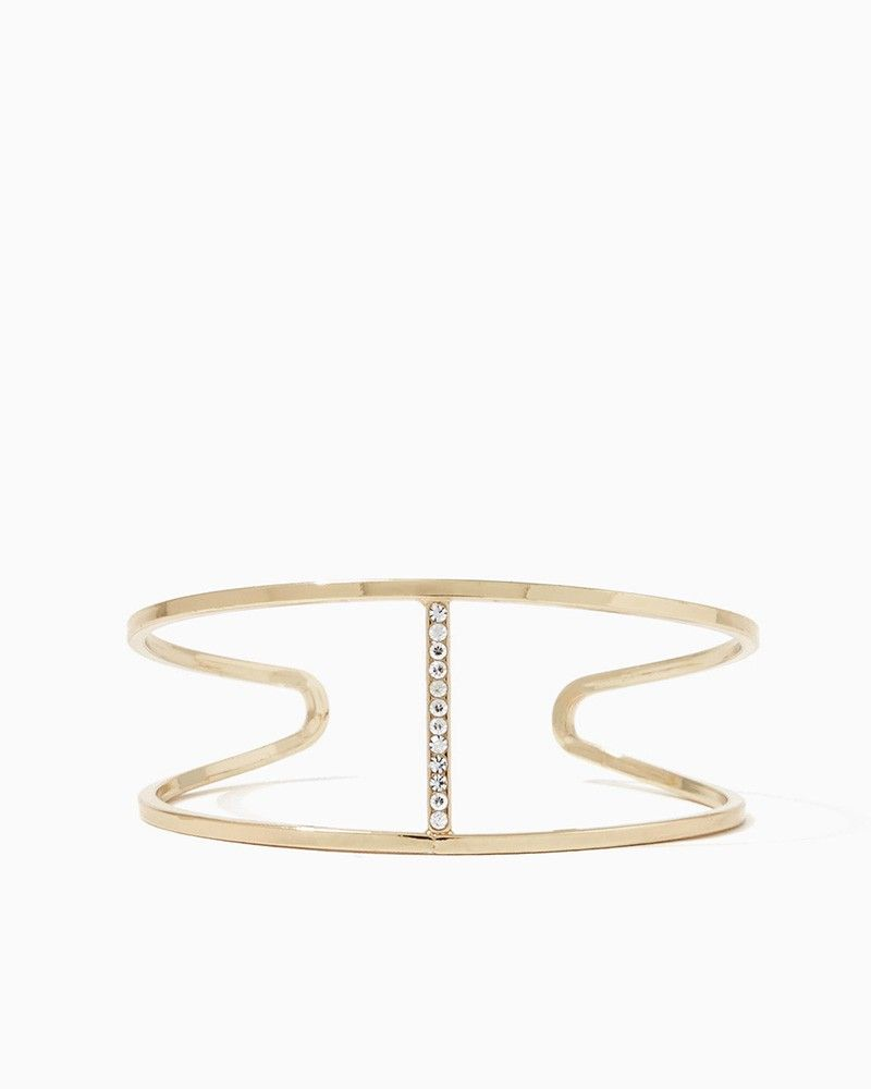 charming charlie | Shimmer Double Row Cuff Bracelet | UPC: 400000163666 #charmingcharlie