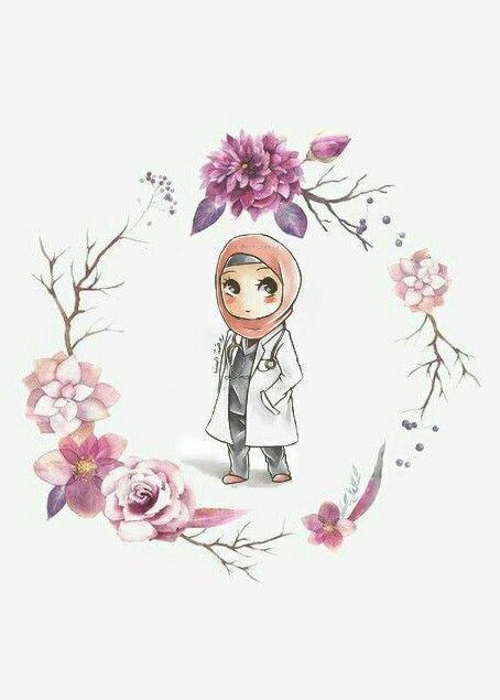 75+ Gambar Kartun Muslimah Cantik dan Imut (bercadar, sholehah, lucu) - Gambar